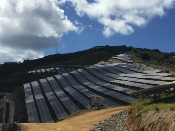 The 5 MW Estate Donor Solar Project on the island of St. Thomas. | Photo by Jennifer DeCesaro