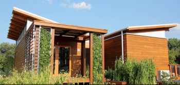"""The University of Maryland's """"WaterShed"""" house won first prize in the 2011 Solar Decathlon architecture contest. 