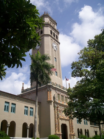 """The iconic University of Puerto Rico Tower. 