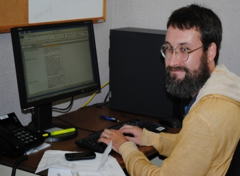 Johnny Whitaker, a college intern at Savannah River Remediation (SRR), uses system analysis and design to help develop a web-accessible inventory system for SRR subject matter experts.