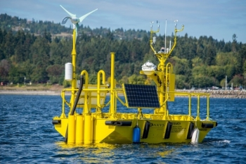 An Energy Department buoy that recently ended a 19-month deployment off Virginia Beach, Virginia, collected a wealth of data that is now available to help offshore wind industry partners optimize offshore wind farm development and design. Photo courtesy of Pacific Northwest National Laboratory.