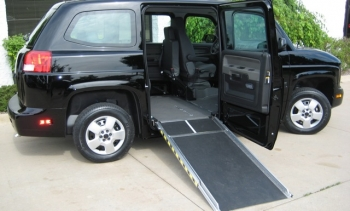 The MV-1, a new wheelchair accessible, fuel-efficient vehicle   Photo Courtesy of Vehicle Production Group
