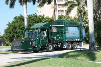 With their presence in almost every neighborhood and community, refuse trucks, like the one shown above, can benefit from alternative fuels and advanced technology.   Photo courtesy of Veolia Environmental Services.