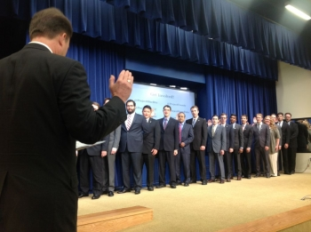 The Presidential Innovation Fellows being sworn in today. | Photo courtesy of the Office of Science and Technology Policy.