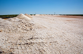 Approximately 1.8 million tons of salt have been mined out of the underground at WIPP.
