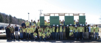"""The Self-Reliance team at their recent """"wall-raising"""" event. 