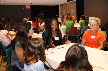 A Mentoring Table at the West Palm Beach STEM Cafe