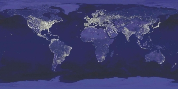 Less than half the of the world has access to a reliable supply of electricity, creating a unique opportunity for the US to become the leader in developing clean energy technologies that strengthen our economy and meet the demand of the developing world. | Image courtesy NASA