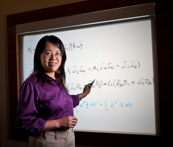 Dr. Xin Sun's scientific advances have led to notable weight savings in the U.S. automotive industry. Xin works at Pacific Northwest National Laboratory.