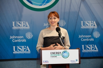 Heather Zichal, Deputy Assistant to the President for Energy and Climate Change, at the 23rd Annual Energy Efficiency Forum in Washington, D.C. | Photo courtesy of the Energy Efficiency Forum.