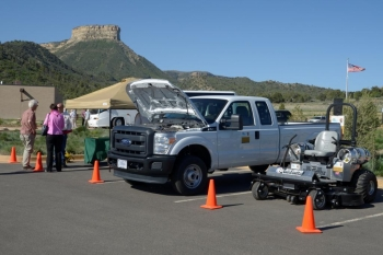 Mesa Verde National Park in Colorado is adding four new propane pickup trucks and a propane lawn mower to help reduce vehicle emissions.   Photo courtesy of National Parks Service