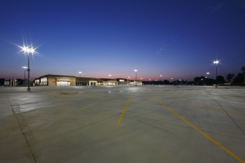 This Walmart in Leavenworth, Kansas, was the first to include LED parking lot lighting based on a specification developed through the Energy Department's Building Technologies Program, the Retail Energy Alliance and the retailer. Since January, Walmart has planned to install similar lighting system at more than 225 new sites.   Photo courtesy of Walmart.