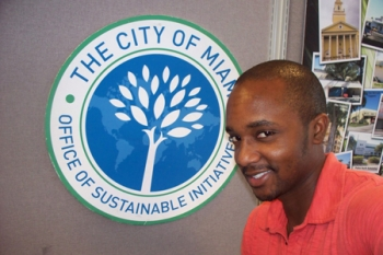 Ajani Stewart was close to losing his job as environmental coordinator for the city of Miami before a change to the city's EECBG allowed Stewart to retain his position. | Photo courtesy of Ajani Stewart