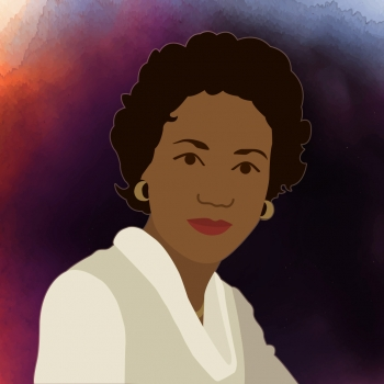 """Rocket Scientist Annie Easley is our second woman in STEM #ThrowbackThursday for 2016.   Illustration by <a href=""""/node/1332956/"""">Carly Wilkins, Energy Department</a>."""