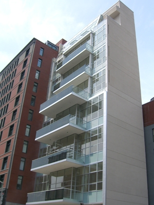 A balcony in New York where BIPV was used. | Photo courtesy Applied PV