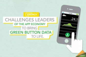 Apps for Energy offers $100,000 in cash prizes to the developers with the best energy-focused apps. Design by Hantz Leger.