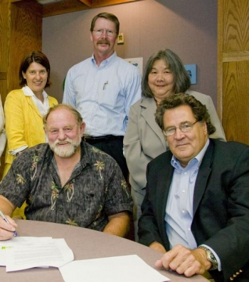 Mike Gleason (second from left), president and CEO of The Arc of Hilo. Also shown, from left: Annemarie Meike, Mark Sueksdorf, Marjorie Gonzalez and Larry Ferderber   Photo Courtesy of LLNL