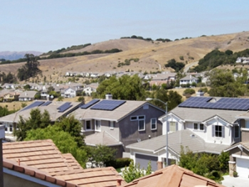 APS will install solar photovoltaic panels like these in Castro Valley, Calif. for a pilot project studying distributed energy in Flagstaff, Ariz. | Photo courtesy of APS