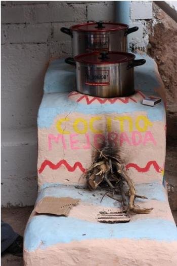 Improved cookstove in village of Santa Cruz de Lanchi, installed through Peru's national cookstove program.   Photo credit: Ranyee Chiang, DOE