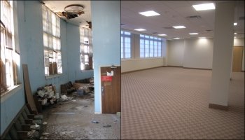 Before and after shots | Courtesy of the Office of Weatherization and Intergovernmental Programs