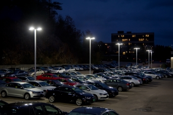 """Beacon Products Viper with Beaconnect"" : The Viper is an area/roadway luminaire with Beaconnect wireless control system integrated into the fixture. It operates autonomously once programmed, has a real-time clock with battery backup for independent operation or functions as a mesh system when needed. Image courtesy of Hubbell Lighting."