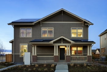 New Town Builders built this 2,115-square-foot home in Denver, Colorado, to the performance criteria of the U.S. Department of Energy Zero Energy Ready Home (ZERH) program. The project won a 2015 DOE Housing Innovation Award. Photo courtesy of New Town Builders.