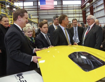 As part of the Energy Department's launch of the Clean Energy Manufacturing Initiative, Assistant Secretary David Danielson toured the new Carbon Fiber Facility at Oak Ridge National Laboratory. Carbon fiber has the potential to improve the fuel efficiency of vehicles. | Photo courtesy of Jason Richards, Oak Ridge National Laboratory.