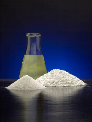 Chemetall extracts lithium carbonate, a powder, from brine, a salty solution from within the earth. | Photo courtesy Chemetall