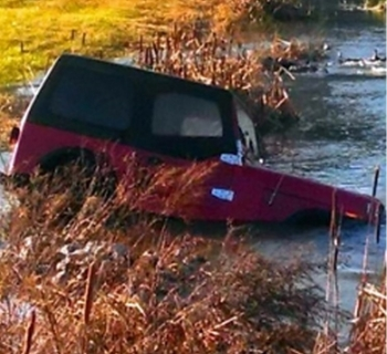 The Nov. 17 tornado forced a Jeep owned by an employee of DUF6 plant operator Babcock & Wilcox Conversion Services into a stormwater runoff ditch at the Paducah Gaseous Diffusion Plant site.