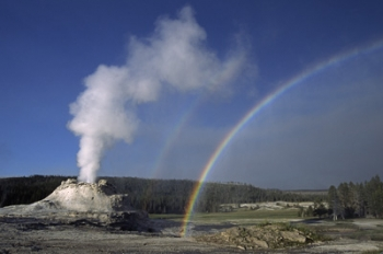 Castle Geyser at Yellowstone National Park   File photo