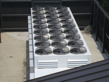 The new chiller system at the Dunn Building replaced an outdated rooftop-based HVAC system.   Photo courtesy of Deborah Hammond