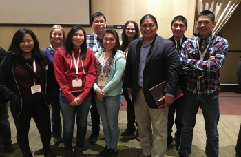 Office of Indian Energy Director Chris Deschene with students and teachers from Buckland and Palmer schools at the Alaska Rural Energy Conference. Photo from Alison Jech, Buckland School.