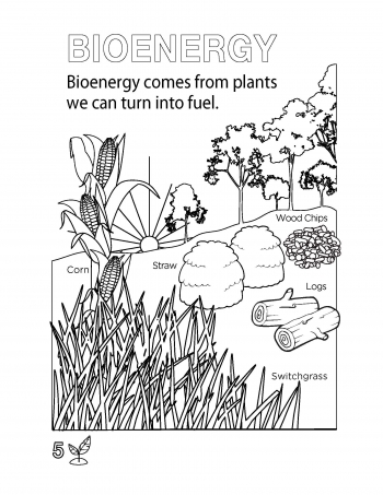 A page from the Get Current coloring book.