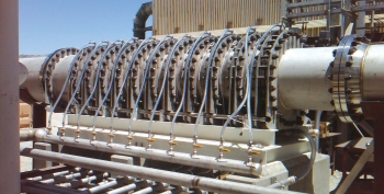 Black Pine Engineering's pilot compressor in California. The team won the Clean Energy Trust Clean Energy Challenge, securing its spot as a regional finalist in the National Clean Energy Business Plan Competition. | Photo courtesy of Black Pine Engineering