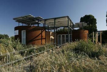 Cornell's 2009 Silo House is now a private residence on Martha's Vineyard, Massachusetts. | Photo courtesy of Jim Tetro, U.S. Department of Energy Solar Decathlon.