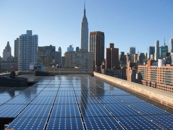 Solar Energy Systems installation, courtesy of Sustainable CUNY
