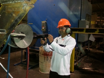 Dayakar Devaru, University of West Virginia graduate student, named Outstanding IAC Engineering Student for his contributions to more than 100 energy-efficiency Industrial Assessment Center (IAC) initiative assessments. | Photo courtesy of University of West Virginia