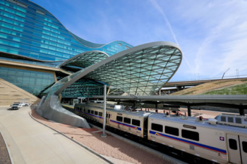 The University of Colorado A Line, operated by the Regional Transportation District (RTD) and Denver Transit Partners (DTP), is changing how people experience and access the Mile High City. | Photo courtesy of Denver International Airport.