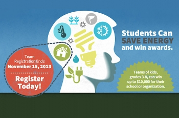 Students can register now to save energy and win prizes with the Home Energy Challenge.