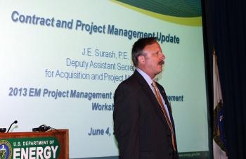 EM Deputy Assistant Secretary for Acquisition and Project Management Jack Surash discusses EM's current contract performance.