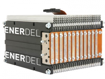 EnerDel is expanding its Mt. Comfort-based factory to produce advanced lithium-ion batteries such as this.| Photo courtesy of EnderDel