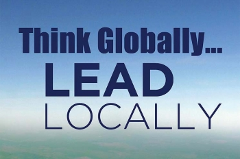 """This year's theme for Energy Action Month is """"Think Globally ... Lead Locally."""" 