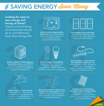 Looking for ways to save energy? Check out these tips that every homeowner should try. | Infographic by Sarah Gerrity, Energy Department. Updated January 2, 2014.