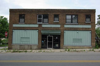 This 1930s grocery store is currently under renovation by the Green & Main initiative. When complete in Spring 2012, the previously abandoned building will be LEED Platinum certified and feature a green roof and 54 original windows retrofitted to achieve high energy efficiency standards. | Photo courtesy of Green & Main.