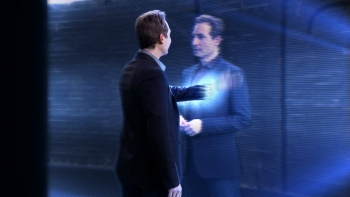 """Host Brian Greene explores the possibilities of space in tonight's premiere episode of PBS NOVA's """"The Fabric of the Cosmos."""""""