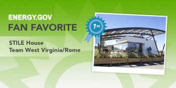 "West Virginia University and University of Roma Tor Vergata's STILE House took first place in our Fan Favorite poll. | Graphic by <a href=""/node/1332956"">Carly Wilkins</a>, U.S. Department of Energy."