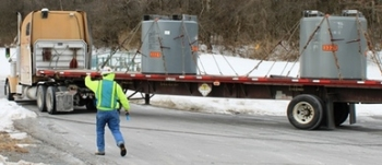 The final waste shipment from the SPRU Disposition Project leaves the site today.