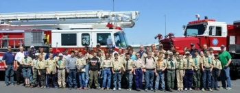 Hanford workers volunteered to educate local Boy Scouts about the importance of safety and other topics.