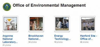 A screenshot shows the EM Flickr Collection, which organizes more than 1,100 photos from around the EM complex.