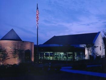 Homewood Public Library at Night | Photo Courtesy of Homewood Public Library